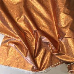 Metallic Stoff - Kupfer