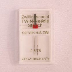 Zwillingsnadel Stretch 2,5mm