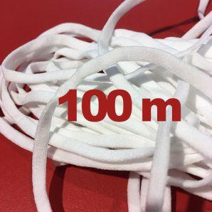 100 Meter - Soft Maskengummi 5mm - weiß