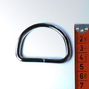 D-Ring groß 3,8cm - Silber glänzend