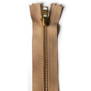 Metall Reißverschluss 12cm - Caramel/Gold