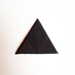 Aufbügler großes Dreieck - schwarz
