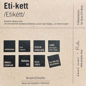#MehrEtikette Webettiket Set