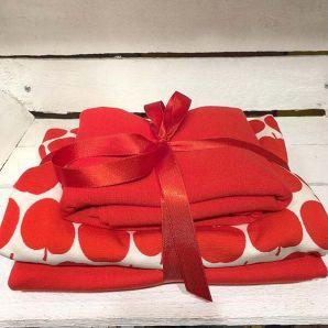 Appel Jersey Set - Rot