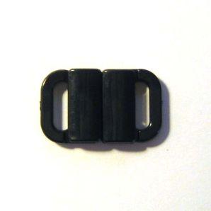 Verschluss 2-teilig 0,8cm - Schwarz