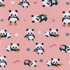 Bio Jersey playful Panda - Hellrosa