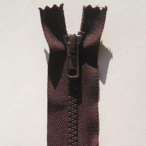 Reißverschluss teilbar 60cm - Braun