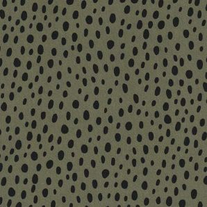 Viskose Dots & Specks - Olivgrün