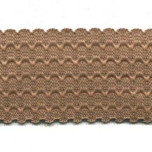 Reststück Gummiband 50mm - Braun