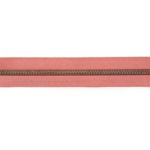 Endlos Reißverschluss metallisiert - Altrosa