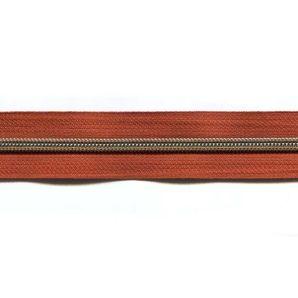 Endlos Reißverschluss metallisiert - Terracotta