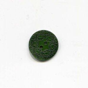 Perlmuttknopf 2-Loch Blume 17mm - Grün