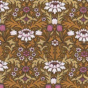Viskose Flowers Nathalie - Senfgelb