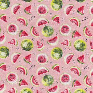 Popeline fresh Melon - Rosa