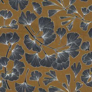 Viskose Ginkgo Blätter - Senfgelb