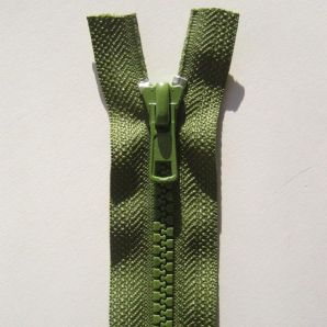Reißverschluss teilbar 45cm - Grün