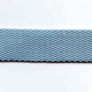 Reststück Gurtband uni 24mm - Hellblau