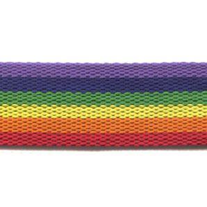 Gurtband Streifen 40mm - Regenbogen