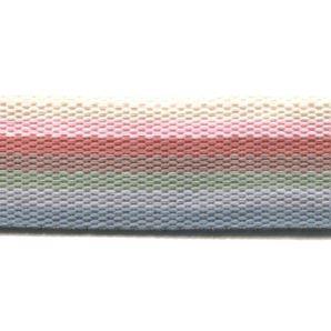 Reststück Gurtband Streifen 40mm - Pastell