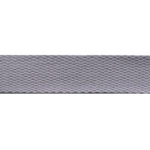 Baumwoll Gurtband uni 24mm - hellgrau