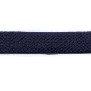 Baumwoll Gurtband uni 24mm - Marineblau