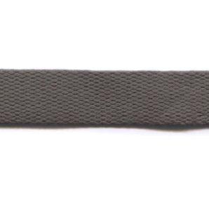 Baumwoll Gurtband uni 24mm - Dunkelgrau