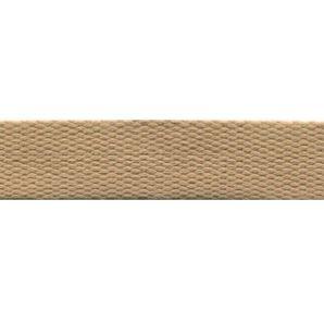 Baumwoll Gurtband uni 24mm - Camel