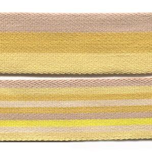 Gurtband 40mm - Streifen Gelb