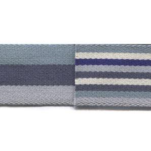 Gurtband 40mm - Streifen Blau/Grau