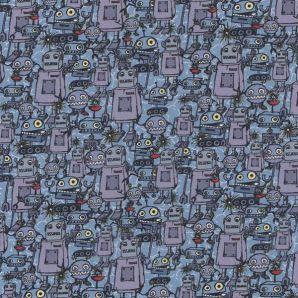 Happy Metal Robots - Hellblau