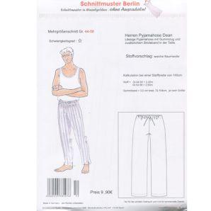 Schnittmuster Berlin - Herren Pyjamahose Dean