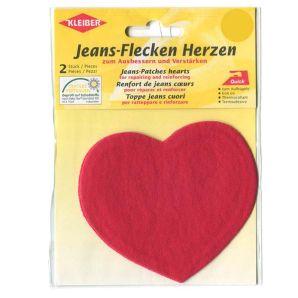 Flicken Jeans Herzen - Rot