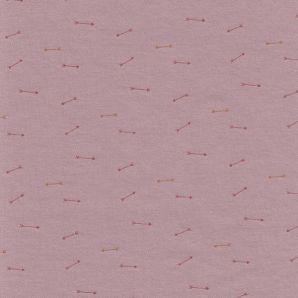 Reststück Interlock Jersey tiny Arrows - Blush