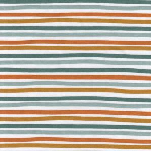 Bio Jersey Poppy Stripes - Weiß