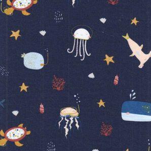 Bio Jersey Sea Animals - Marineblau