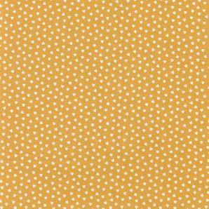 Popeline kleine Herzen - Gelb