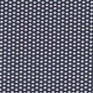 Popeline kleine Muscheln - Marineblau