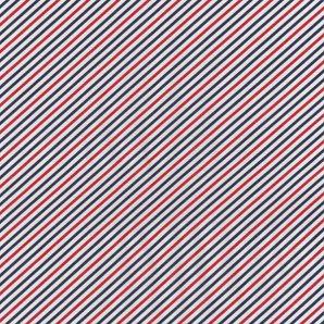 Popeline kleine Streifen - Weiß