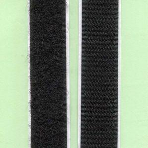 Klettband selbstklebend 20mm - Schwarz
