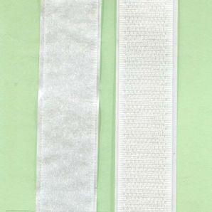 Klettband selbstklebend 20mm - Weiss