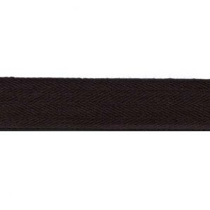 Köperband fein 25mm - Schwarz