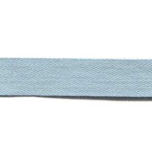 Köperband fein 25mm - Hellblau