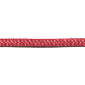 Köperband 10mm - Rot/Weiss