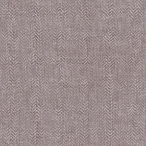 Reststück Leinen Baumwolle Fischgrät - Braun