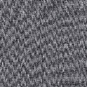 Leinen Baumwolle Fischgrät - Schwarz