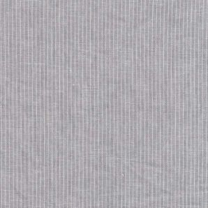 Reststück Leinen Baumwolle Streifen - Hellgrau