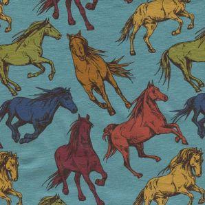 Jersey Majestic Horses - Petrol