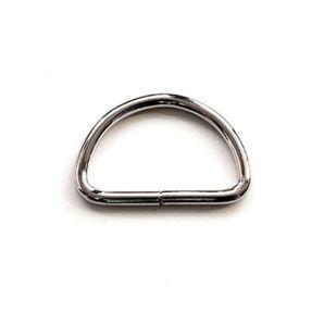 D-Ring 3,8cm - Silber glänzend