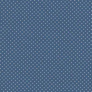 Popeline Minipünktchen - Blue