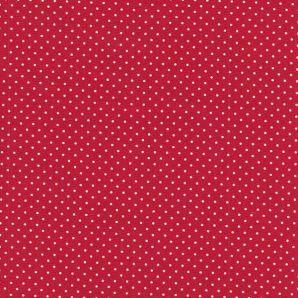 Popeline Minipünktchen - Red